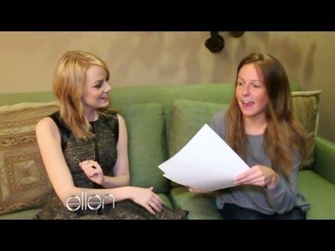 Emma Stone's Backstage Interview