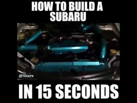 Build Your Own Subaru >> How Build A Subaru In 15 Seconds Youtube