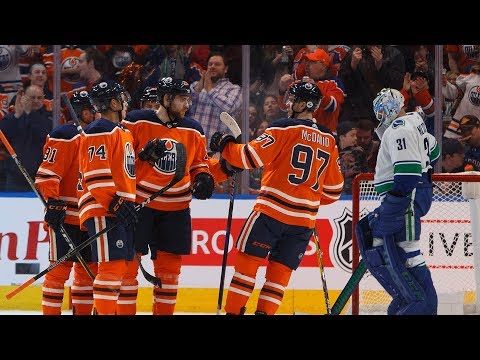 Oilers 3 stars in 3-2 win over the Canucks
