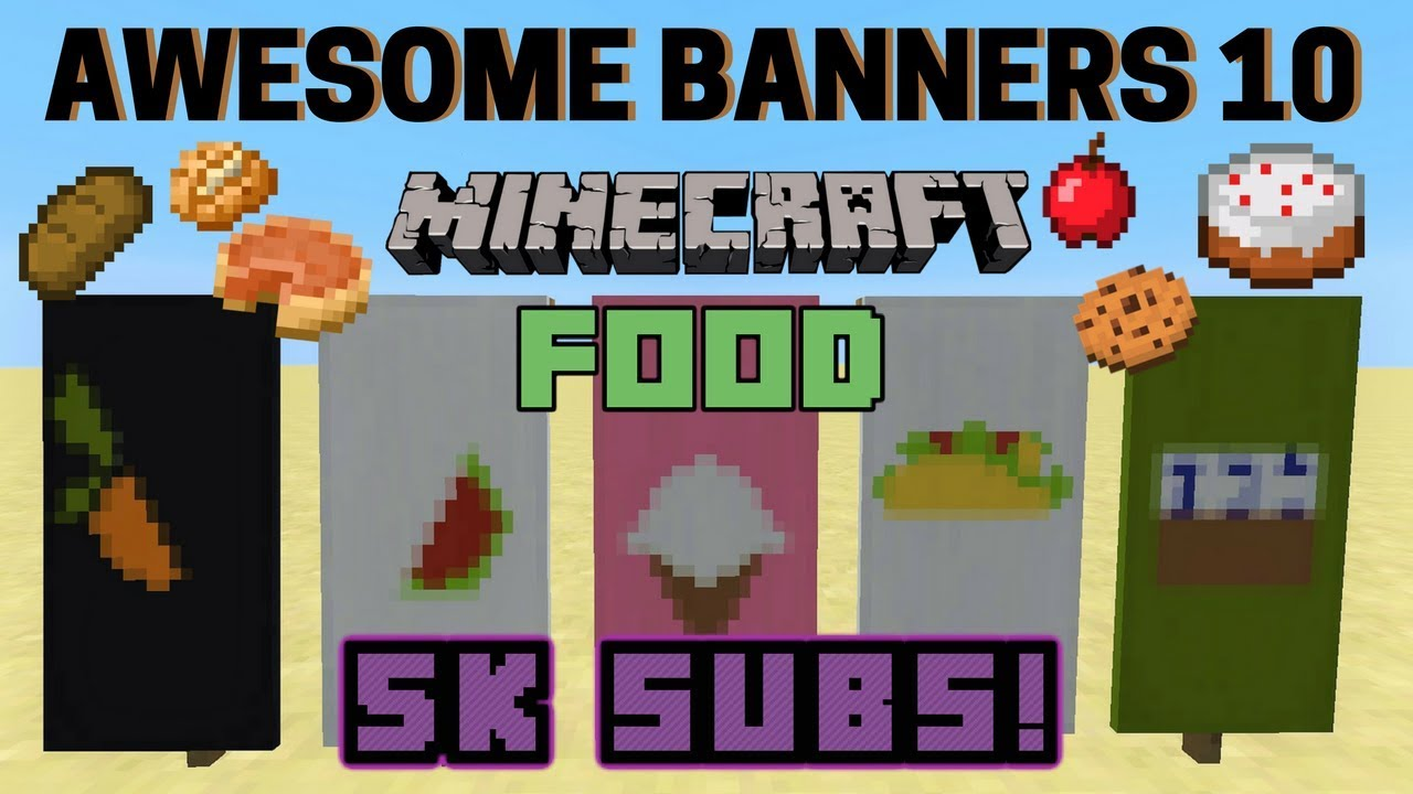 how to make a cake banner in minecraft
