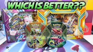 WHICH IS BETTER? Pokemon Card Boxes or Tins? (THERE'S A CLEAR WINNER LOL)