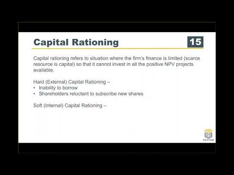 ACCA F9 Course Investment Appraisal 09 Introduction to Capital Rationing