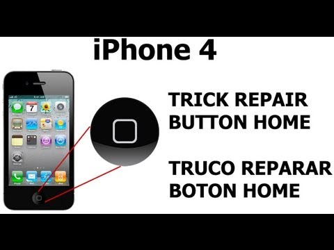 home button for iphone trick truco repair home button iphone 4 reparar 5301