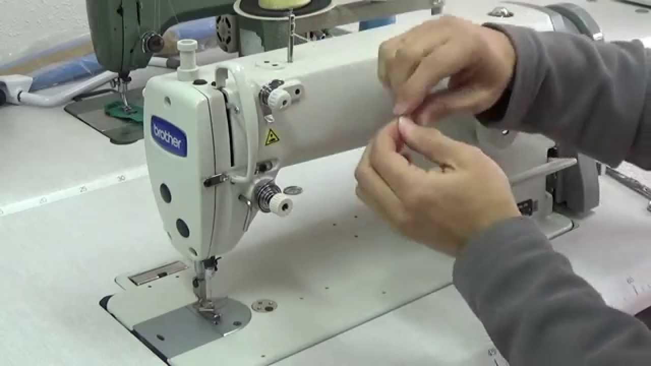 Maquina de coser Industrial , Como enhebrar una brother