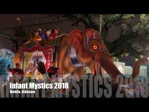 Infant Mystics 2018 Mardi Gras Parade in Mobile, Alabama