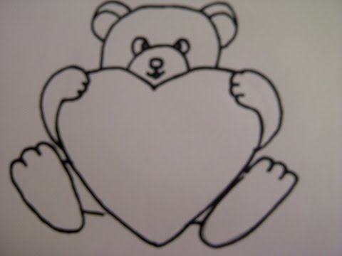 teddyb r mit herz zeichnen zeichnen basteln zum muttertag zeichnen lernen. Black Bedroom Furniture Sets. Home Design Ideas