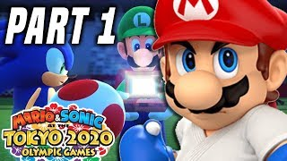 Mario and Sonic at the Tokyo 2020 Olympic Games Part 1 - Story Mode Gameplay Walkthrough (Switch)