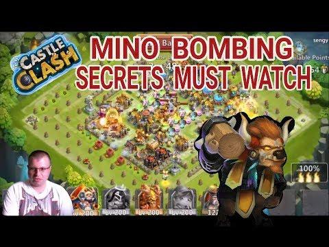 Castle Clash Guild Wars Best Mino Bombing Ever MUST WATCH