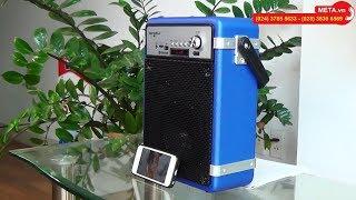 Loa di động Soundmax M2 dùng pin, kết nối bluetooth, hát karaoke, giá chỉ 1.365.000 vnđ
