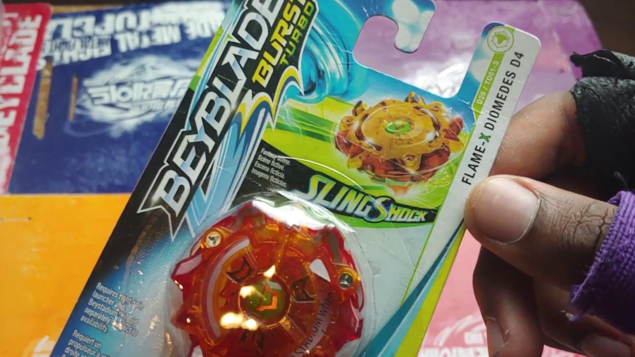 Beyblade Burst Turbo Slingshock Single Top Flame X Diomedes D4