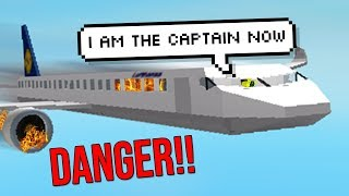 ROBLOX AIRPLANE SIMULATOR *CRASHING UNSER FLUGZEUG*