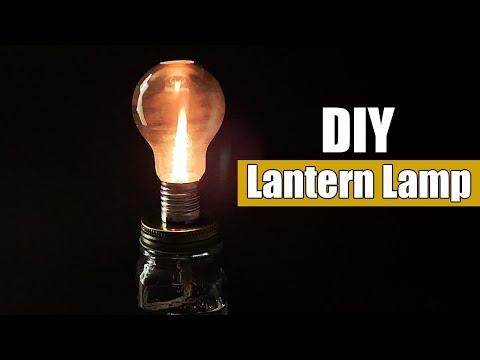 How to Make a Light Bulb Lamp - DIY Lantern Lamp