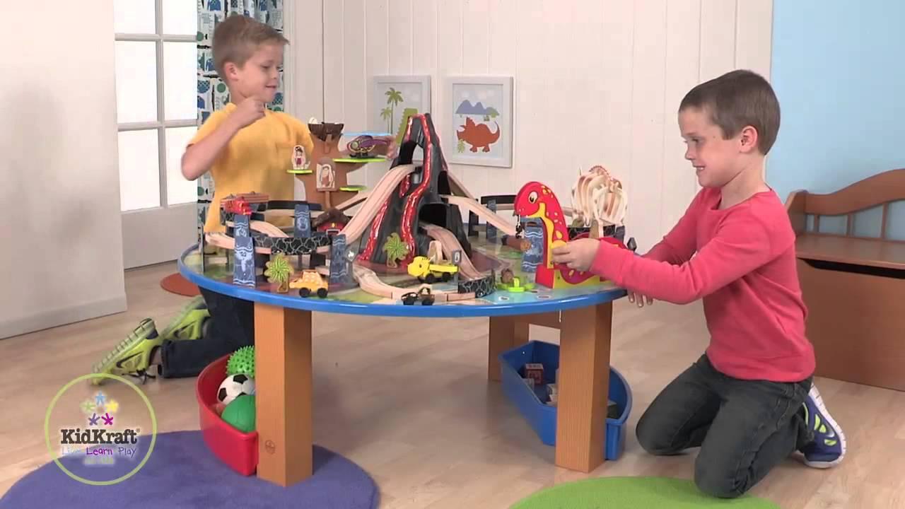 KidKraft Dinosaur Train Set and Table - 17961 - YouTube