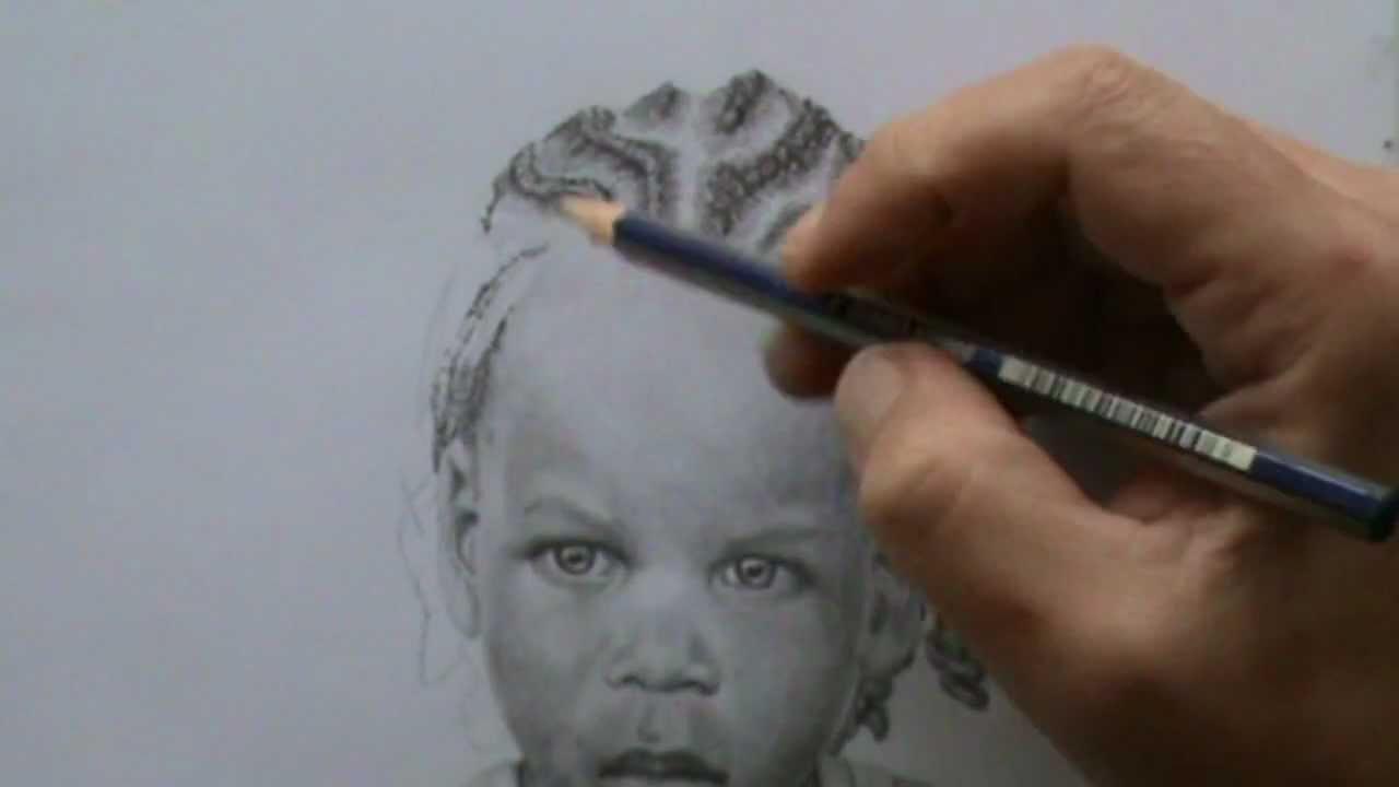 Draw Face Hair Cornrows Dreadlocks Tutorial