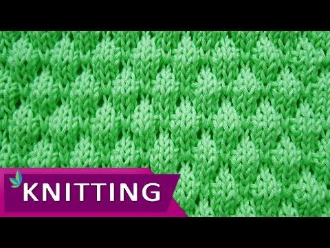Knitting Stitches Wrap 3 : Bubble Wrap Stitch - nice 3D effect - YouTube