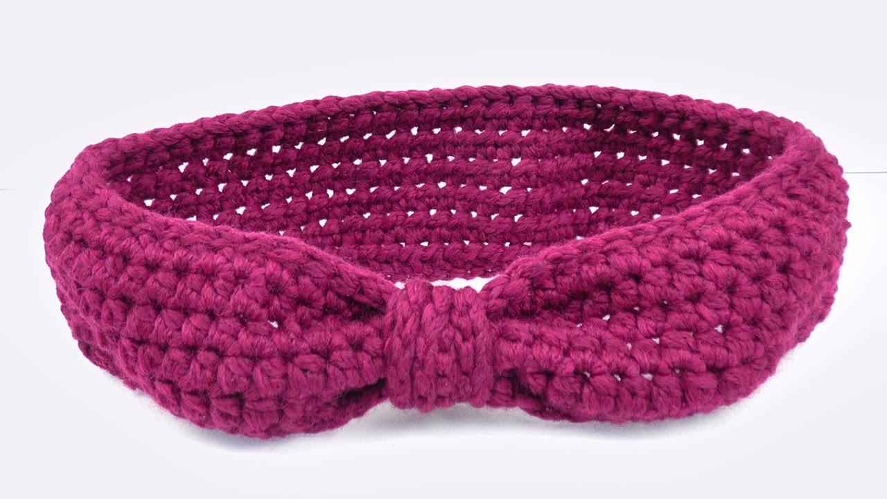 Stirnband im Schleifen Look | Cooles Stirnband für den Winter Häkeln ...
