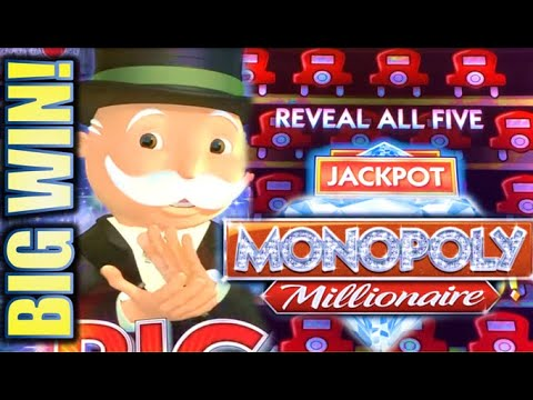 ★HUGE MONOPOLY BIG WIN!★ 🎩 MONOPOLY MILLIONAIRE & MONOPOLY JACKPOT STATION Slot Machine (SG)