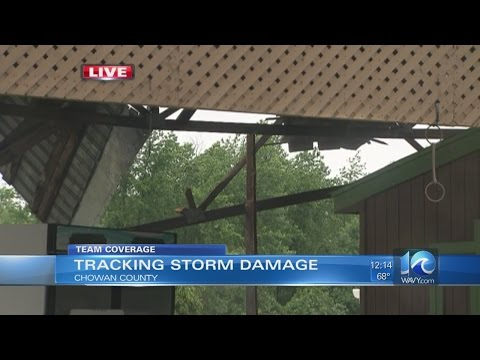 Storm damage in Chowan County