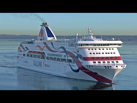 Tallink Baltic Queen Arrive to Tallinn, Estonia