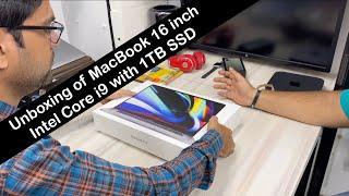 Unboxing of MacBook 16 inch