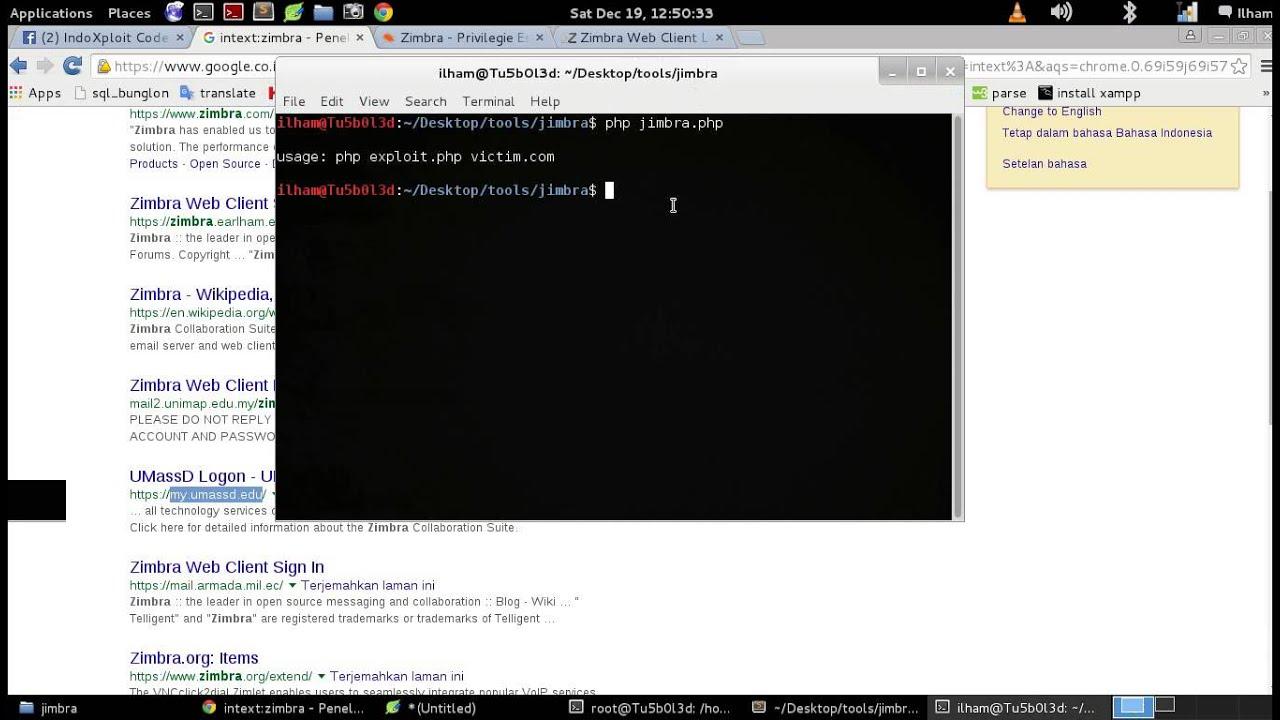 auto exploiter zimbra PHP