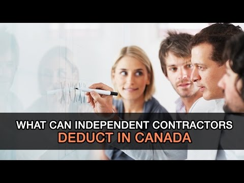 What Can Independent Contractors Deduct In Canada