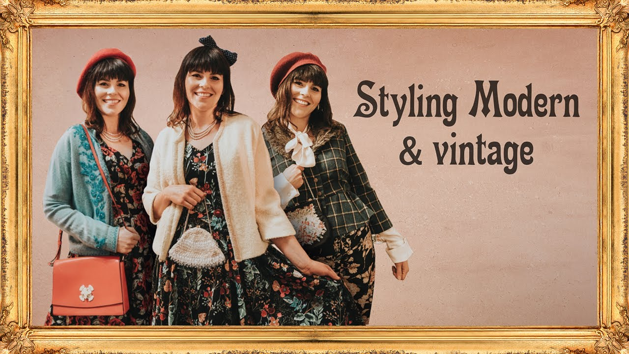 d569274a511 Unique Vintage Haul - How to Mix Modern and Vintage Fashion - YouTube