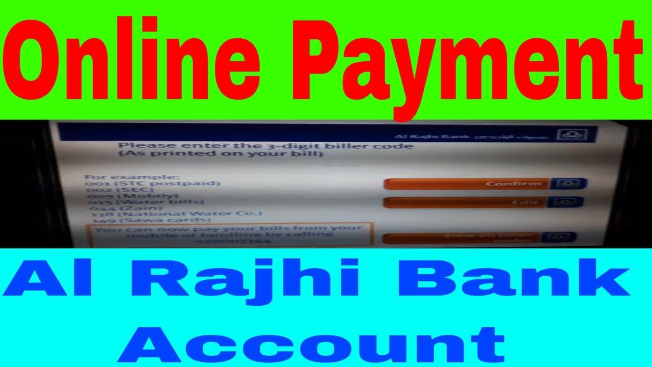 Online Payment !! Sadad Payment By Al Rajhi Bank Account