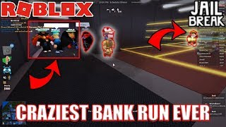MOST INSANE BANK ROBBERY EVER | Roblox Jailbreak