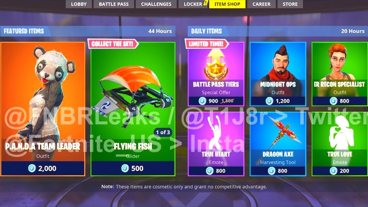 New daily item shop leaked p a n d a sushi master new - Sushi skin fortnite ...