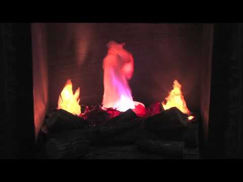 Artificial Flame Fireplace - YouTube