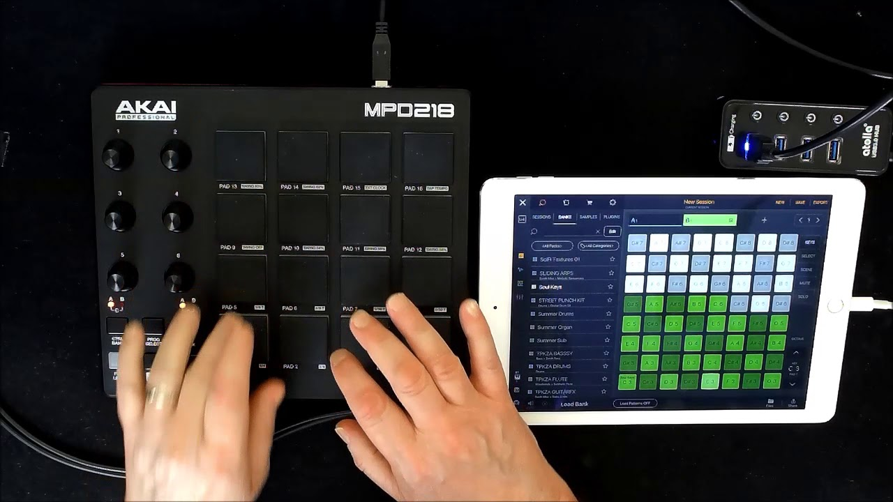 akai mpd218  AKAI MPD 218 - Setting Up With BEATMAKER 3 - iPad Tutorial - YouTube