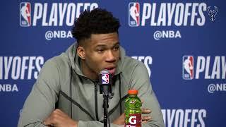 Giannis Antetokounmpo & Khris Middleton Postgame Press Conference | Celtics vs Bucks