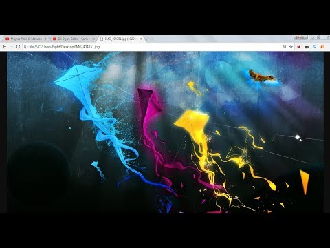 How To Set Background Image In Website ( Html -using Notepad) HTML