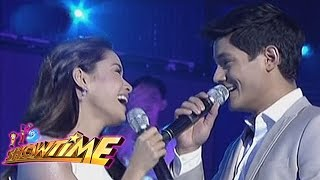 Daniel Matsunaga and Erich Gonzales spread love on It