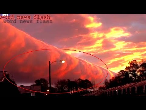 Incredible cloud formation glowing pink captured by world news flash.