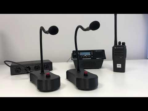 Uitbreidingsunit Voor MotoTRBO Portofoons, 4 Microfoons Op 1 Mobilofoon