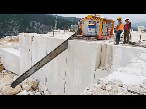 Amazing Fastest Marble Mining Heavy Equipment Machines - Incredible Modern Stone Mining Technology