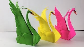 3d Origami Swan Tutorial | Paper Craft | Easy Origami Animals | Animal Craft | Paper Birds Easy