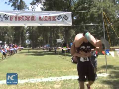 Wife Carrying Championship held in Houston