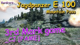 WOT: Rare in randoms because of reasons? Jagdpanzer E 100 _CJ [FAME] 3rd Mark game, WORLD OF TANKS