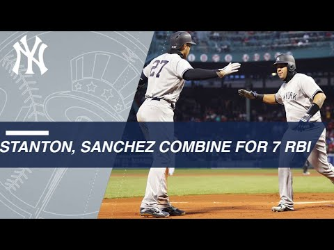 Stanton, Sanchez lead Yanks' offensive outburst
