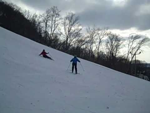 Sheri Falling Down The Black Diamond Hill Amy Skiing Gracefully
