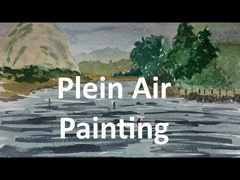 Watercolor Plein Air Painting Morro Bay State Park