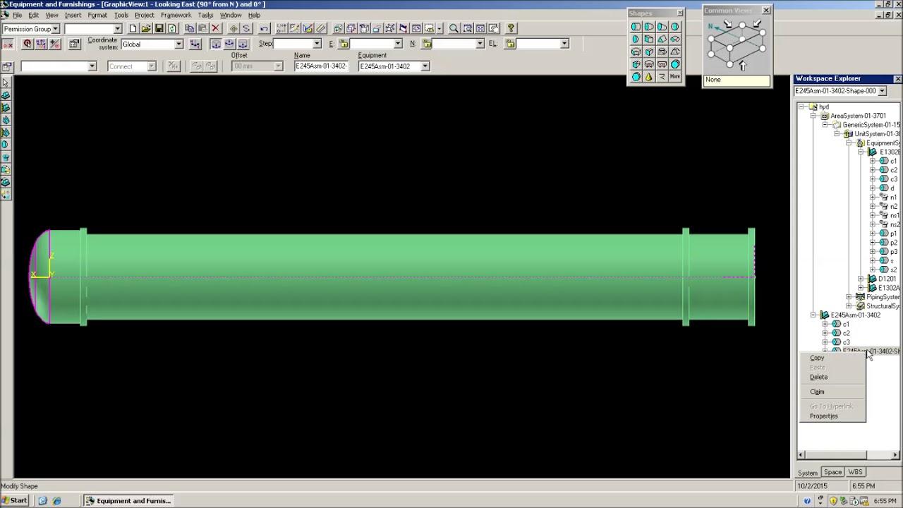 SP3D Equipment Modeling | Complete Design | Drawing | Tutorial 1
