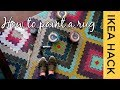 How to paint an Area rug, Ikea Hack, so easy!