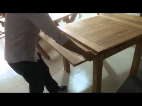 Modern Furniture Direct Richmond Dining Table Extension Mechanism Youtube