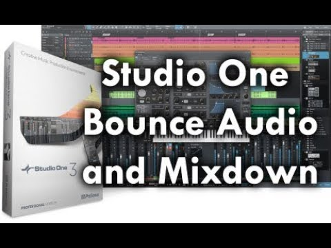 Studio One: How to Bounce and Perform Audio Mixdown