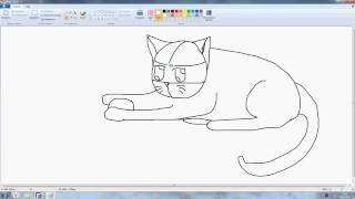 Как нарисовать кота(Это моё первое видео и я решила снять как нарисовать анимешного кота кота., 2016-07-03T07:11:12.000Z)