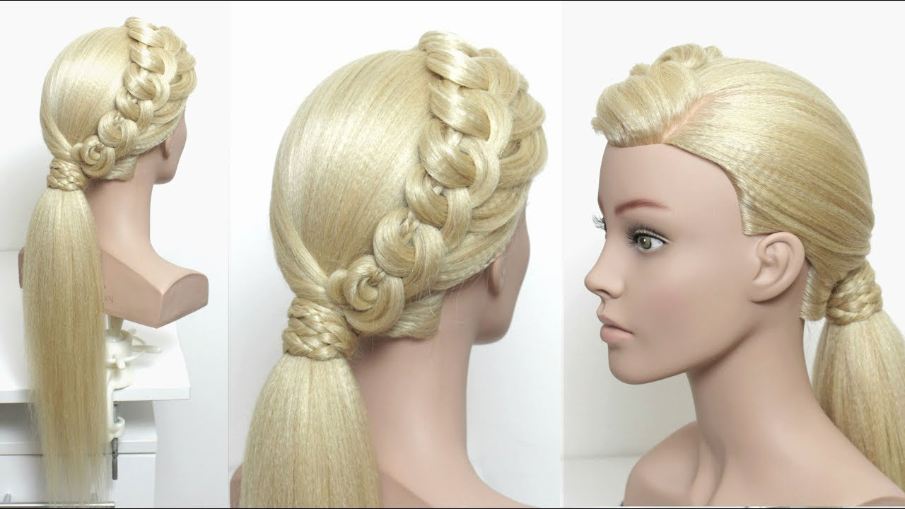 Fancy Low Ponytail. Prom Hairstyles. Hair Tutorial - YouTube